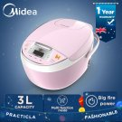 Midea 3L Multi Function Smart Kitchen Electric Rice Cooker 605W 5.5 cup Pink