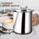 Stainless Steel Metal Teapot Tea Coffee Cafe Drink Kitchen Lid Pot Catering