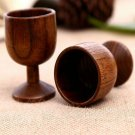Handmade Wooden Wine Tea Cup Drinking Water Jujube Goblet Cup o