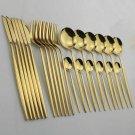24pcs Dinnerware Set Cutlery Stainless Steel Fork Spoon Flatware Tableware