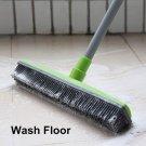 Long Push Rubber Broom Sweeper Squeegee Bristle Carpet Window Hair Floor Cleaner