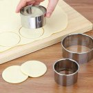 5-Set Round Circle Stainless Steel Cookie Cutter Biscuit DIY Baking Pastry Mold.