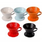 Ceramic Coffee Dripper Pour Over Coffee Maker V60 Engine Slow Brewing accessory