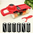 Hot 6 Blades Kitchen Slicer Vegetable Cutter Potato Onion Carrot Grater Chopper
