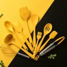 Silicone Cooking Utensils Set Non-stick Wooden Handle Box Storage New J5N9