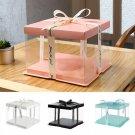 Transparent PVC DIY Gift Box Rose Flower Cake Box Packaging Box Valentine's Day