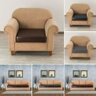 1 Pc PU Leather Stretch Sofa Chair Seat Cushion Cover Slipcover Couch Protector