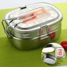 2-Layer Stainless Steel Lunch Box Bento Box Eco-Friendly Food Container Hot Sale