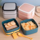 1100ml Portable 2 Layer Bento Boxes With Cutlery | Microwavable