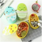 Portable Cartoon Lunch Box Child Microwave Bento Boxes Kids Food Container Gift