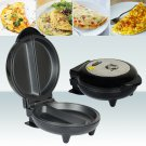 NON STICK 750W ELECTRIC KITCHEN EGG OMELETTE MAKER COOKER BLACK WITH SILVER TOP