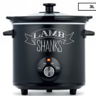 New 3L Slow Cooker Ceramic with Low, High and Keep Warm Settings Free Shipping