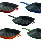 Cast Iron Square Skillet Grill Pan Enameled Non Stick Fry Pan Griddle Pan