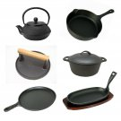 Used Cast Iron Skillets Frying Pans Burger Presses Baking Stone Sizzle Platters