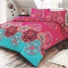 Indian Mandala Premium Cotton-rich Duvet Cover and Pillowcase Bedding Set