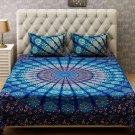 Mandala Duvet Quilt Cover with Pillow Case Super King Size Indian Bedding Set