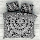 Bohemian Indian Elephant Bedding Quilt Duvet Cover Set Queen Size Comforter Set