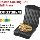Electric Grill Griddle Press Sandwich Cooker Drip Tray George Foreman Non Stick
