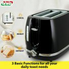 Toaster 2 Slice Electric Black & Silver with Warming Rack Crumb Tray Toast Slot