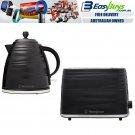 Westinghouse Toaster 2 Slice & Cordless 1.7L Kettle Jug Black Electric Combo Set