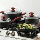 Gibson Home Marengo Cookware Set, 7 Piece, Red