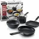GRANITESTONE 2716 Stackmaster 5 Piece Mini Set, Nonstick Cookware Set, Scratch-R