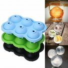 4/6 Large Ice Ball Maker Cube Tray Big Silicone Mold Sphere Whiskey Round Mould