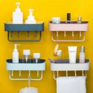 Bathroom Suction Rack Organizer Cup Storage Shower Wall Basket Towel Hook Tools
