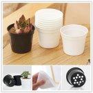 10Pcs Plastic Round Flower Pot Home Garden Nursery Pot Planter Planting Supplies