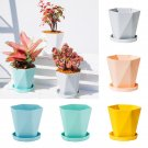 Plastic Plant Flower Pot Saucers Water Tray Round Plant Pots Planter With Tray