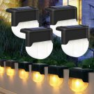 1/4X Solar LED Deck Lights Outdoor Path Garden Pathway Stairs Step Fence Lamp