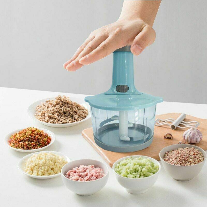 Hand Pull Chopper Manual Vegetable Grinder Cutter Mincer Shredder Kitchen Gadget