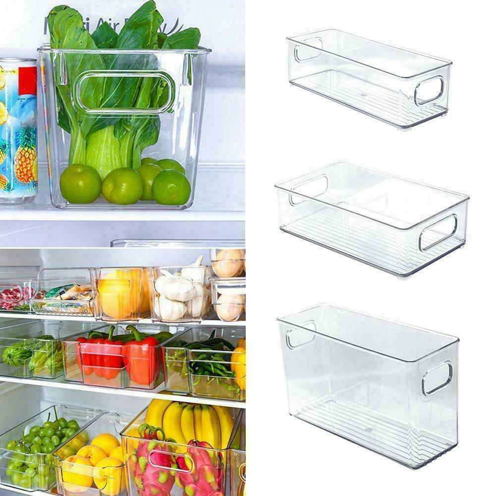 2021 Kitchen Refrigerator Organizer Plastic Pantry HO Food Storage Home O5H5