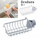 1x Kitchen Sink Faucet Sponge Soap Cloth Drain Rack Holder Storage Organizer NEW