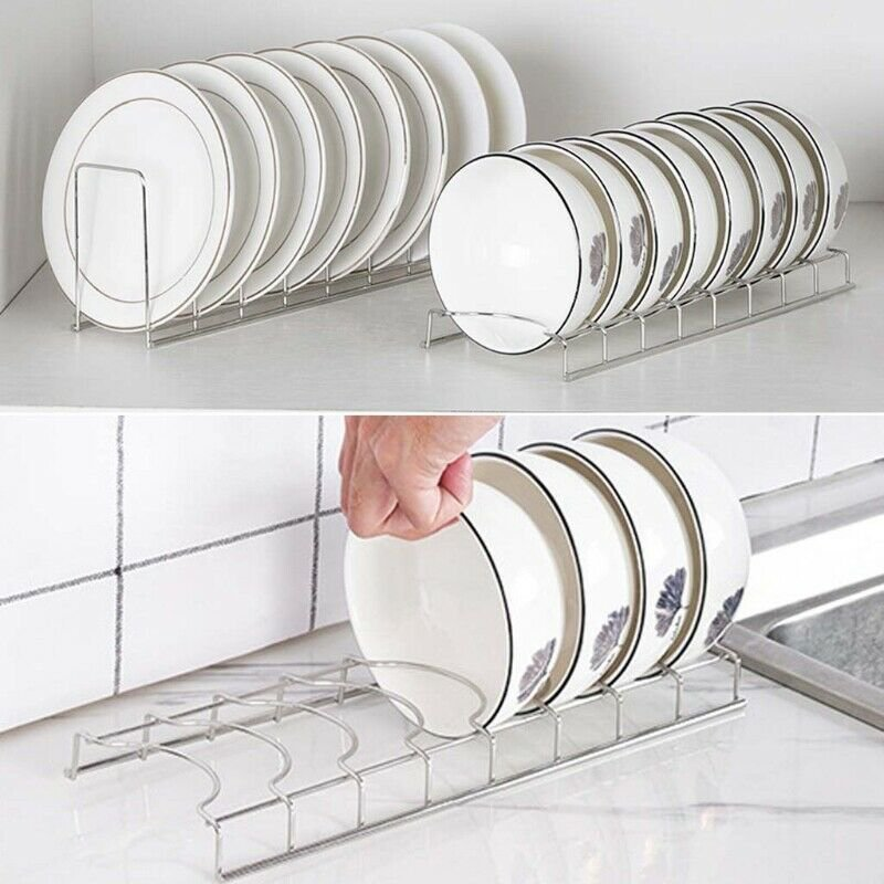 Kitchen Sink Dish Drainer Stainless Steel Cutlery Plate Cup Storage Holder Rack