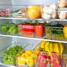 Refrigerator Organizer Bins - Clear Plastic Pantry Food Storage Rack