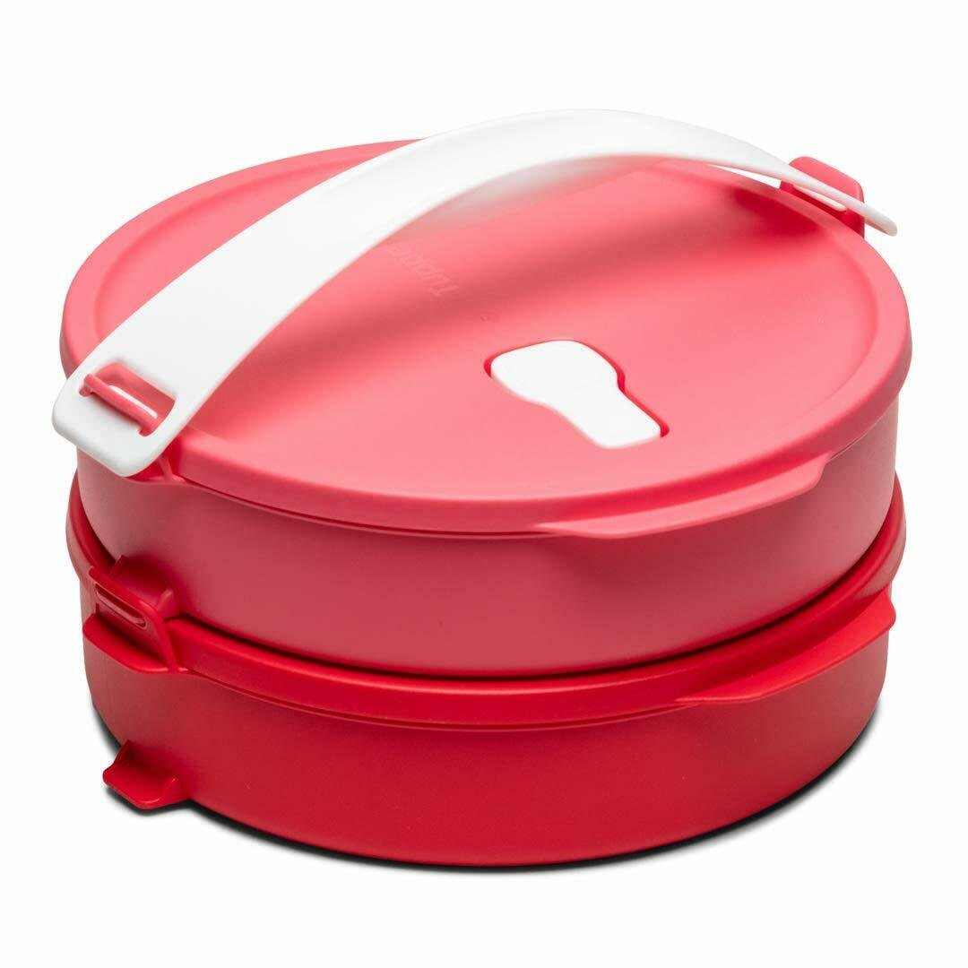 Tupperware Click to Go Round Food Carrier 880 ml Spill-Proof Airtight Free Ship