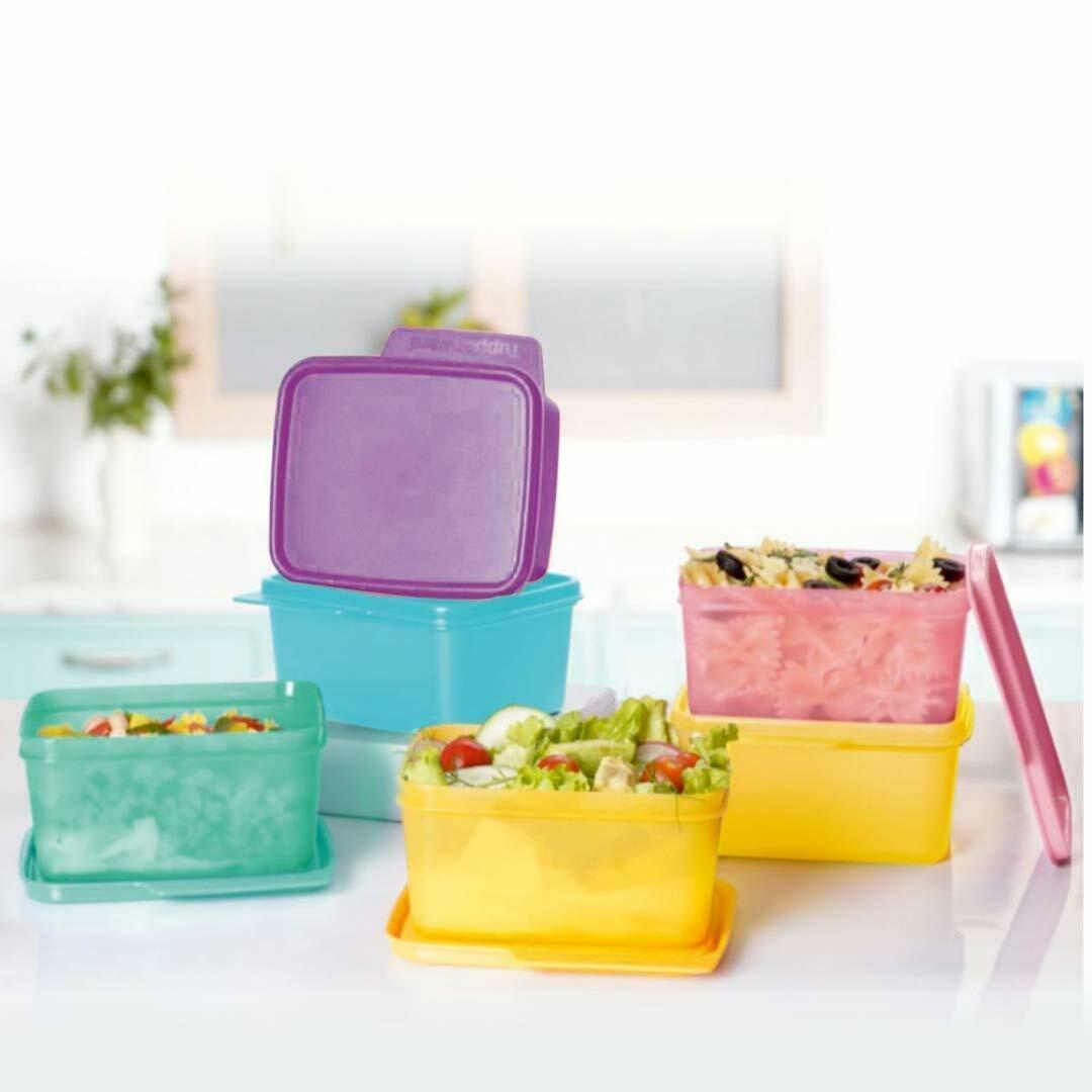 Tupperware Rectangular Fridge Containers Cubix Air Tight BPA-Free Plastic FS