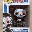 Funko Pop Marvel Capt America Civil War Crossbones Battle Damage + Free Protctor