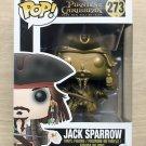 Funko Pop Disney Pirates Of Caribbean Jack Sparrow Gold (Box Damage) + Protector