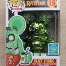 Funko Pop Icons Rat Fink Green Chrome SDCC + Free Protector