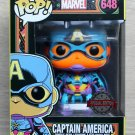 Funko Pop Marvel Captain America Black Light + Protector