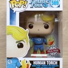 Funko Pop Marvel Fantastic Four Human Torch With Flames + Free Protector