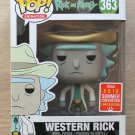 Funko Pop Rick And Morty Western Rick SDCC + Free Protector