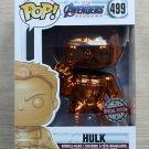 Funko Pop Marvel Avengers Endgame Hulk Orange Chrome + Free Protector