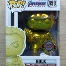 Funko Pop Marvel Avengers Endgame Hulk Yellow Gold Chrome + Free Protector