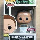 Funko Pop Rick And Morty - Morty With Laptop + Free Protector
