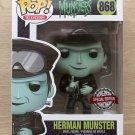 Funko Pop The Munsters Herman Munster Biker + Free Protector