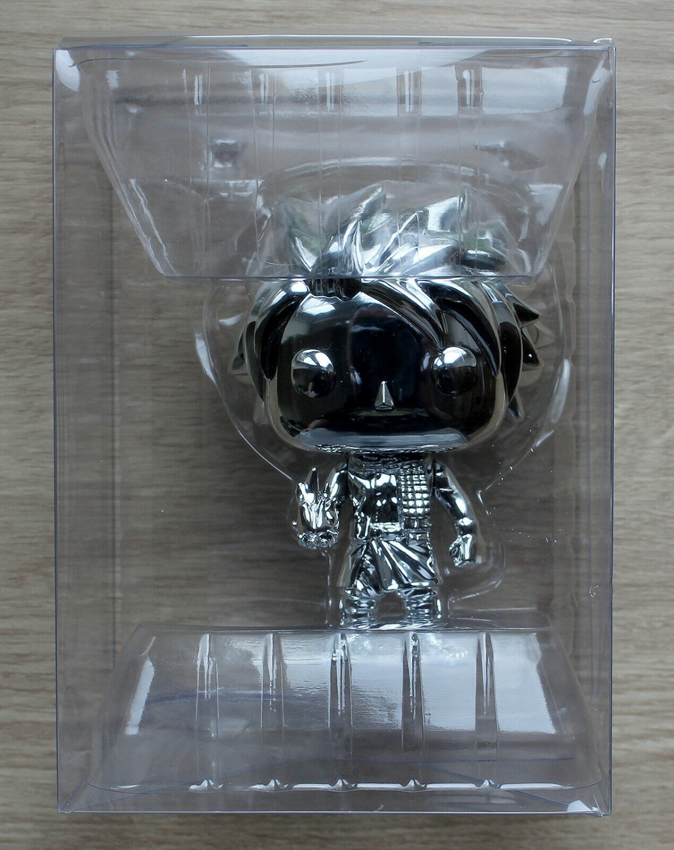 Funko Pop Fairy Tail Natsu Silver Chrome - No Box + Shipped In Protector