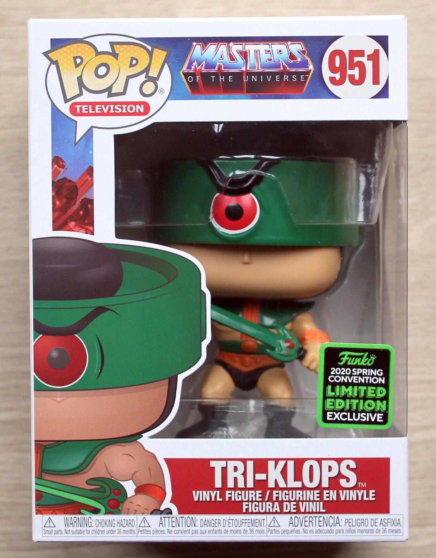 Funko Pop Masters Of The Universe Tri-Klops ECCC + Free Protector